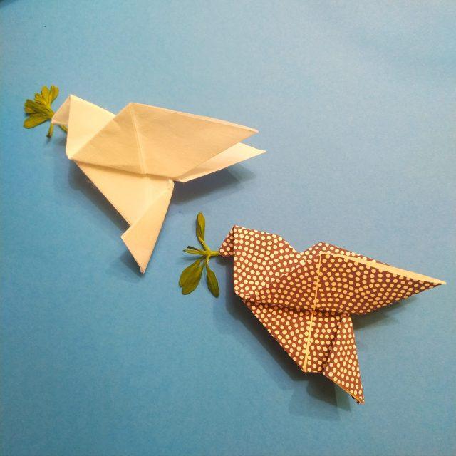 origami peace dove paloma de la paz