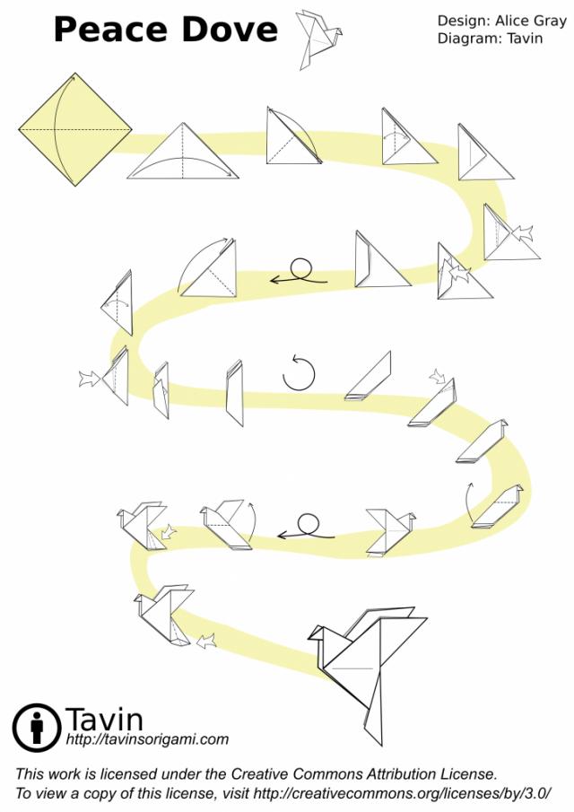 origami peace dove paloma instrucciones